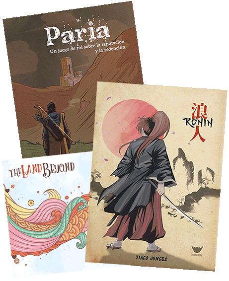 Portadas de Ronin, Paria y The Land Beyond